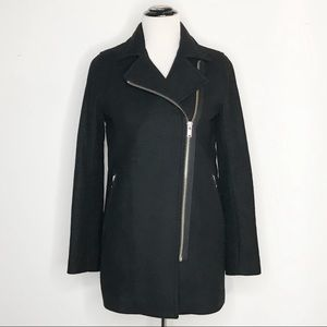 Wilfred Free Fei Cashmere Blend Moto Pea Coat